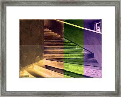 Old Vintage Building Wide Staircases Digitally Painted For Decoration Art Framed Print