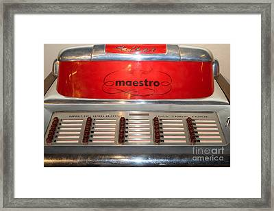 Old Vintage Filben Maestro Jukebox Dsc2772 Framed Print by Wingsdomain Art and Photography