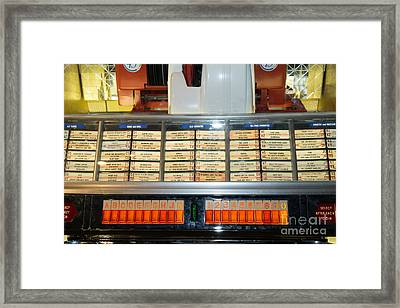 Old Vintage Jukebox Dsc2758 Framed Print by Wingsdomain Art and Photography