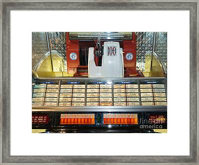 Old Vintage Jukebox Dsc2759 Framed Print by Wingsdomain Art and Photography