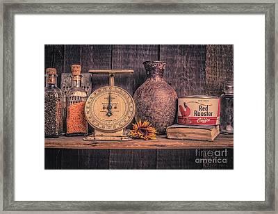 Old Vintage Kitchen Shelf Framed Print