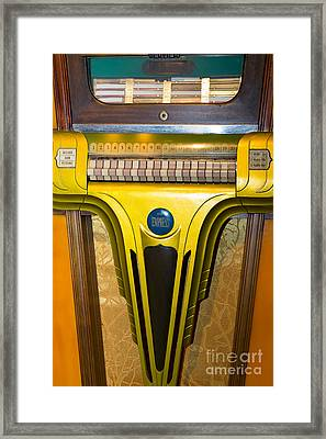 Old Vintage Mills Empress Jukebox Dsc2789 Framed Print by Wingsdomain Art and Photography