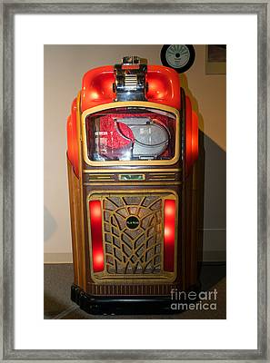 Old Vintage Packard Pla-mor Jukebox Dsc2769 Framed Print by Wingsdomain Art and Photography