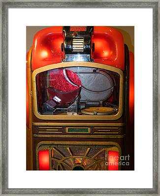 Old Vintage Packard Pla-mor Jukebox Dsc2771 Framed Print by Wingsdomain Art and Photography