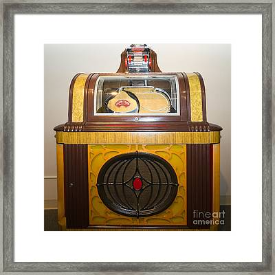 Old Vintage Packard Pla-mor Jukebox Dsc2798 Framed Print