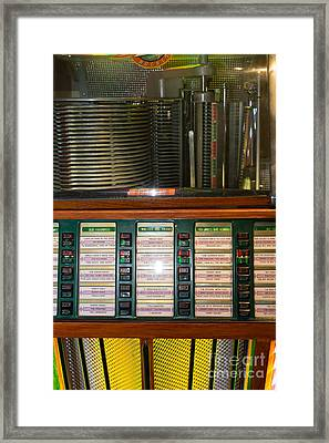 Old Vintage Rock Ola Jukebox Dsc2754 Framed Print by Wingsdomain Art and Photography