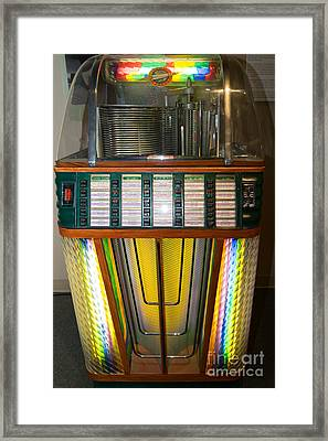 Old Vintage Rock Ola Jukebox Dsc2755 Framed Print by Wingsdomain Art and Photography