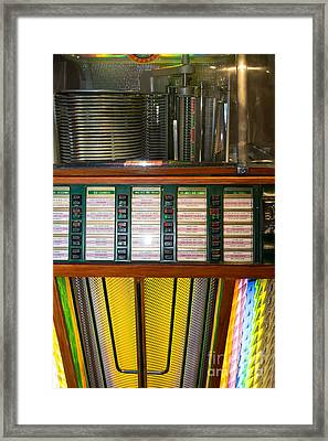 Old Vintage Rock Ola Jukebox Dsc2756 Framed Print by Wingsdomain Art and Photography