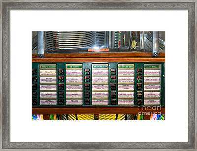 Old Vintage Rock Ola Jukebox Dsc2757 Framed Print by Wingsdomain Art and Photography