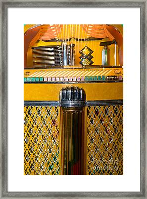 Old Vintage Rock Ola Jukebox Dsc2784 Framed Print by Wingsdomain Art and Photography