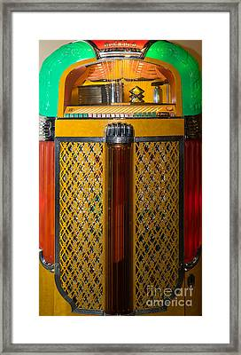 Old Vintage Rock Ola Jukebox Dsc2785 Framed Print by Wingsdomain Art and Photography