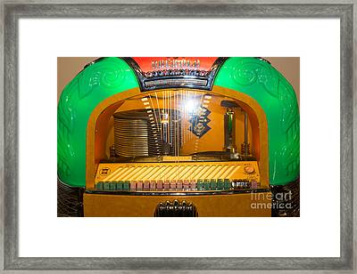Old Vintage Rock Ola Jukebox Dsc2786 Framed Print by Wingsdomain Art and Photography
