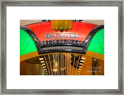 Old Vintage Rock Ola Jukebox Dsc2787 Framed Print by Wingsdomain Art and Photography