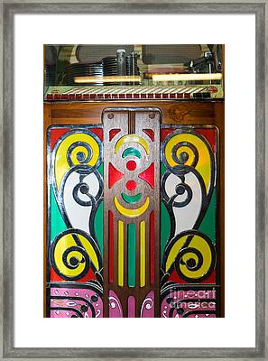 Old Vintage Rock Ola Jukebox Dsc2793 Framed Print by Wingsdomain Art and Photography