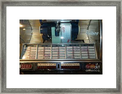 Old Vintage Seeburg Jukebox Dsc2752 Framed Print by Wingsdomain Art and Photography