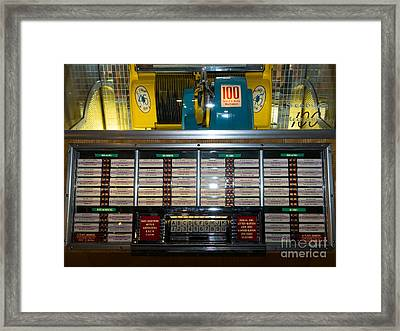 Old Vintage Seeburg Jukebox Dsc2760 Framed Print by Wingsdomain Art and Photography