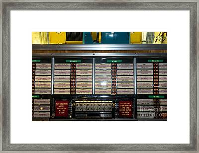 Old Vintage Seeburg Jukebox Dsc2761 Framed Print by Wingsdomain Art and Photography