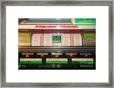 Old Vintage Seeburg Jukebox Dsc2765 Framed Print by Wingsdomain Art and Photography