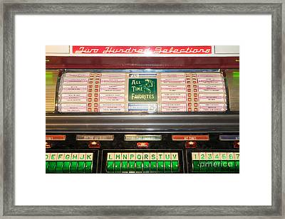 Old Vintage Seeburg Jukebox Dsc2766 Framed Print by Wingsdomain Art and Photography
