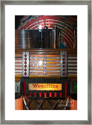 Old Vintage Wurlitzer Jukebox Dsc2705 Framed Print by Wingsdomain Art and Photography