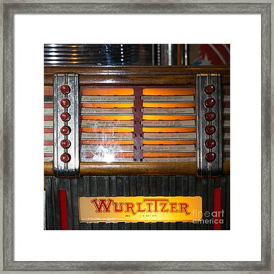 Old Vintage Wurlitzer Jukebox Dsc2706 Square Framed Print by Wingsdomain Art and Photography
