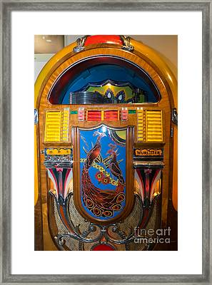 Old Vintage Wurlitzer Jukebox Dsc2778 Framed Print by Wingsdomain Art and Photography