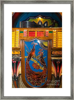 Old Vintage Wurlitzer Jukebox Dsc2779 Framed Print by Wingsdomain Art and Photography