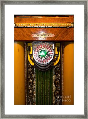 Old Vintage Wurlitzer Jukebox Dsc2806 Framed Print by Wingsdomain Art and Photography