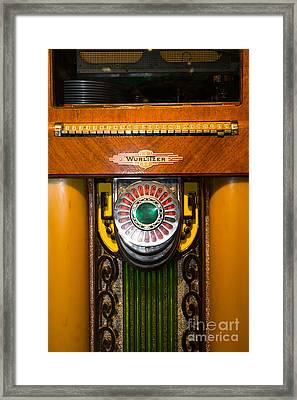 Old Vintage Wurlitzer Jukebox Dsc2808 Framed Print by Wingsdomain Art and Photography