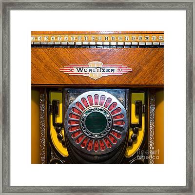Old Vintage Wurlitzer Jukebox Dsc2809 Square Framed Print