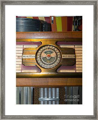 Old Vintage Wurlitzer Jukebox Dsc2811 Framed Print by Wingsdomain Art and Photography