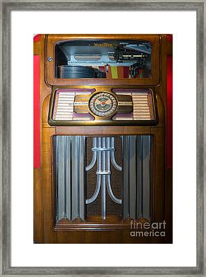 Old Vintage Wurlitzer Jukebox Dsc2812 Framed Print