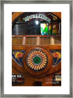 Old Vintage Wurlitzer Jukebox Dsc2823 Framed Print by Wingsdomain Art and Photography