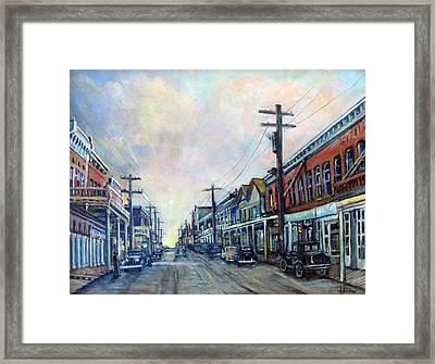 Old Virginia City Framed Print by Donna Tucker