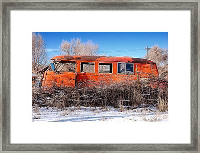 Old Volkswagen Bus Framed Print by Jim Hughes