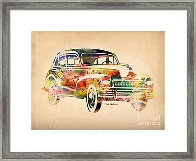 Old Volkswagen Framed Print by Mark Ashkenazi
