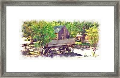 Old Wagon At Wheeler Farm Framed Print