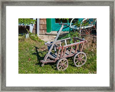 Old Wagon Framed Print by Guy Whiteley
