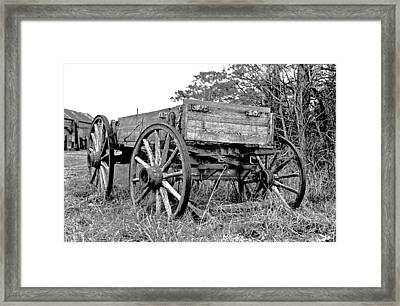 Old Wagon Framed Print by Mike Flynn