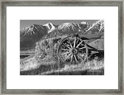 Old Wagon Near Jobs Peak Framed Print by James Eddy