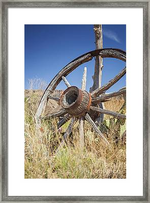 Framed Print featuring the photograph Old Wagon Wheel by Bryan Mullennix