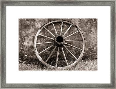 Old Wagon Wheel Framed Print