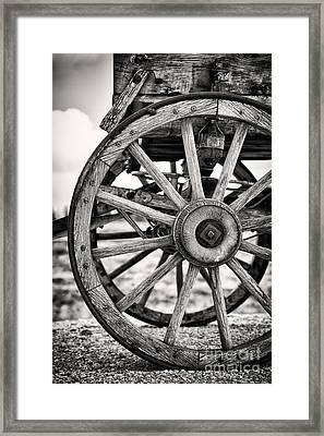 Old Wagon Wheels Framed Print by Jane Rix