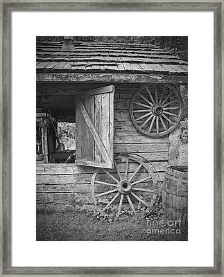 Old wagon wheels on out building photograph by valerie garner - Valerie garnering ...