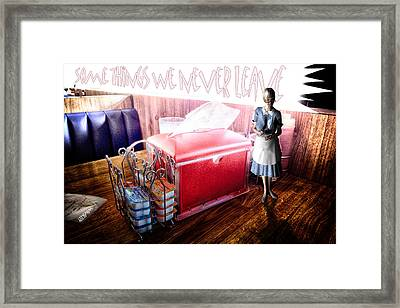 Old Waitress Framed Print