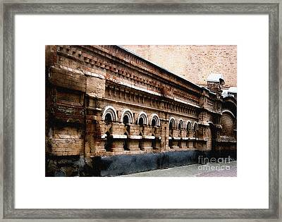 Framed Print featuring the pyrography Old Wall 2 by Evgeniy Lankin