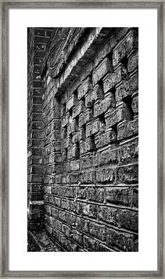 Old Wall Architectural Detail Framed Print by Andrew Crispi