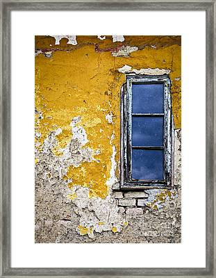 Old Wall In Serbia Framed Print