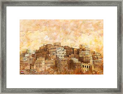 Old Walled City Of Shibam Framed Print