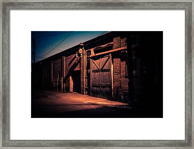 Old Warehouse Building At Night In Georgetown Seattle Framed Print by Brian Xavier